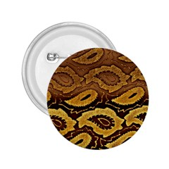 Golden Patterned Paper 2.25  Buttons