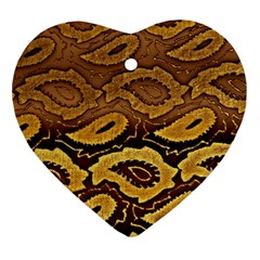 Golden Patterned Paper Ornament (Heart)