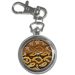 Golden Patterned Paper Key Chain Watches