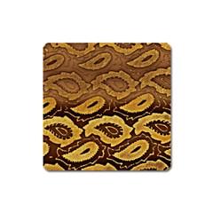 Golden Patterned Paper Square Magnet