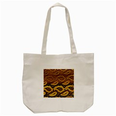 Golden Patterned Paper Tote Bag (Cream)