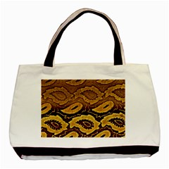 Golden Patterned Paper Basic Tote Bag