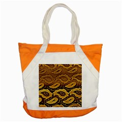 Golden Patterned Paper Accent Tote Bag