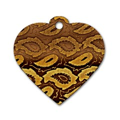 Golden Patterned Paper Dog Tag Heart (Two Sides)