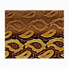 Golden Patterned Paper Small Glasses Cloth (2 Side)