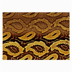 Golden Patterned Paper Large Glasses Cloth (2-Side)