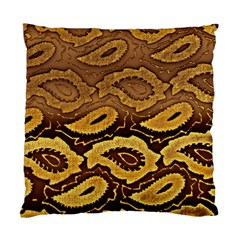 Golden Patterned Paper Standard Cushion Case (Two Sides)