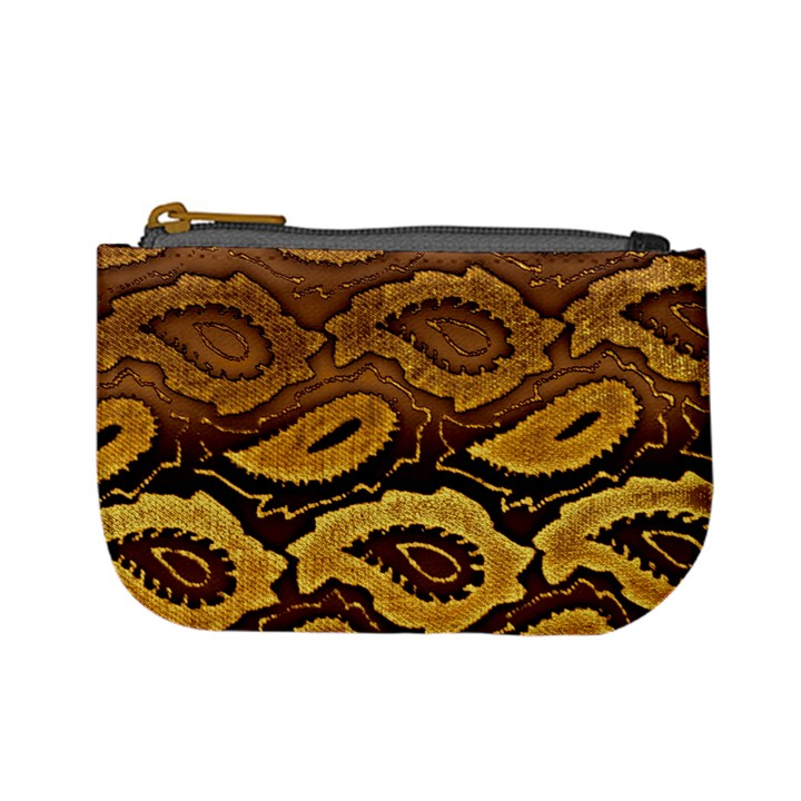 Golden Patterned Paper Mini Coin Purses