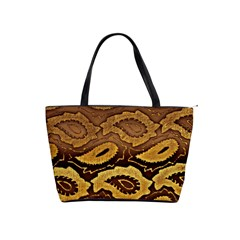 Golden Patterned Paper Shoulder Handbags