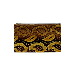 Golden Patterned Paper Cosmetic Bag (Small)