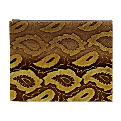 Golden Patterned Paper Cosmetic Bag (XL)