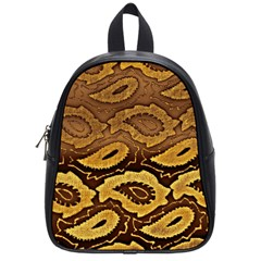 Golden Patterned Paper School Bags (Small)