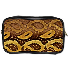Golden Patterned Paper Toiletries Bags 2-Side
