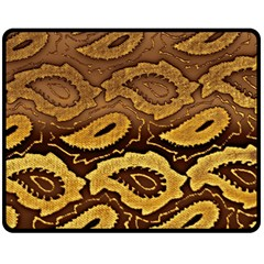 Golden Patterned Paper Fleece Blanket (Medium)