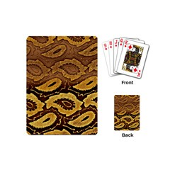 Golden Patterned Paper Playing Cards (Mini)