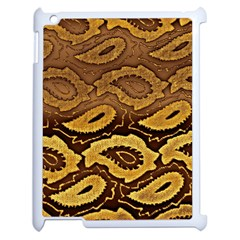 Golden Patterned Paper Apple iPad 2 Case (White)