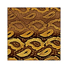 Golden Patterned Paper Acrylic Tangram Puzzle (6  X 6 )