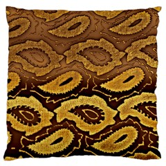 Golden Patterned Paper Large Cushion Case (Two Sides)