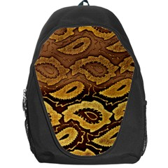Golden Patterned Paper Backpack Bag