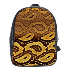 Golden Patterned Paper School Bags (xl)