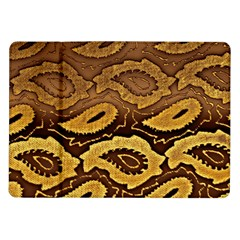Golden Patterned Paper Samsung Galaxy Tab 10.1  P7500 Flip Case