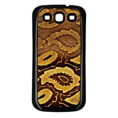Golden Patterned Paper Samsung Galaxy S3 Back Case (Black)