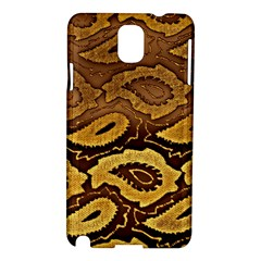 Golden Patterned Paper Samsung Galaxy Note 3 N9005 Hardshell Case