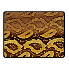 Golden Patterned Paper Double Sided Fleece Blanket (small)
