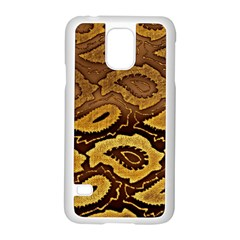 Golden Patterned Paper Samsung Galaxy S5 Case (White)
