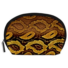 Golden Patterned Paper Accessory Pouches (large)