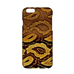 Golden Patterned Paper Apple Iphone 6/6s Hardshell Case