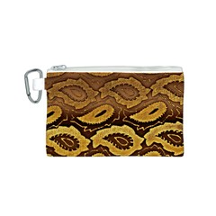 Golden Patterned Paper Canvas Cosmetic Bag (s)