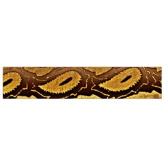 Golden Patterned Paper Flano Scarf (Small)