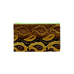 Golden Patterned Paper Cosmetic Bag (xs)