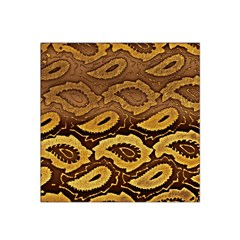 Golden Patterned Paper Satin Bandana Scarf