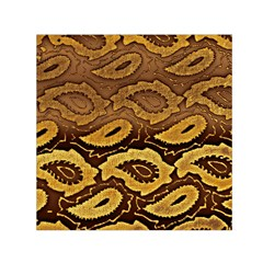 Golden Patterned Paper Small Satin Scarf (square)