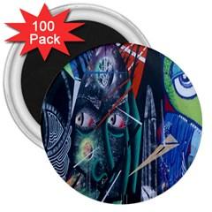 Graffiti Art Urban Design Paint 3  Magnets (100 pack)