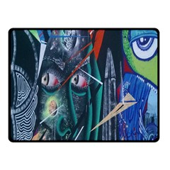 Graffiti Art Urban Design Paint Fleece Blanket (Small)
