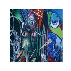 Graffiti Art Urban Design Paint Small Satin Scarf (Square)
