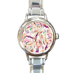 Grass Blades Round Italian Charm Watch