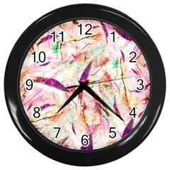 Grass Blades Wall Clocks (Black)