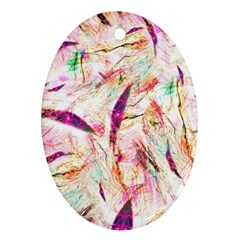Grass Blades Oval Ornament (two Sides)