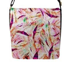 Grass Blades Flap Messenger Bag (L)
