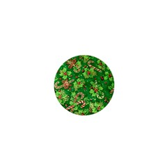 Green Holly 1  Mini Buttons