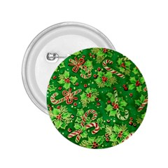 Green Holly 2.25  Buttons