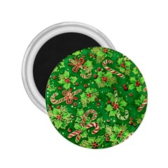 Green Holly 2.25  Magnets