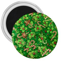 Green Holly 3  Magnets