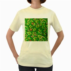 Green Holly Women s Yellow T Shirt
