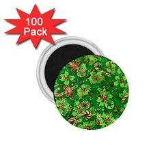 Green Holly 1.75  Magnets (100 pack)