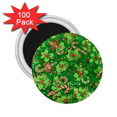Green Holly 2 25  Magnets (100 Pack)